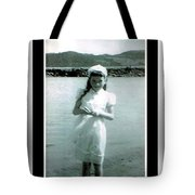 Shy Girl With New Easter Dress Tote Bag