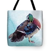 Shy Is A Wood Duck Tote Bag