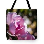 Shy Pink Rose Bud Tote Bag