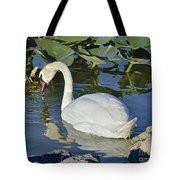 Shy Swan Tote Bag