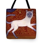 Siamese Cat Runner Tote Bag