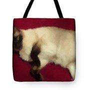 Siamese Expressive Brushstrokes Tote Bag