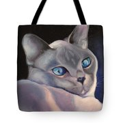 Siamese In Blue Tote Bag
