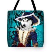 Siberian Husky Art Canvas Print - Baroness Tote Bag