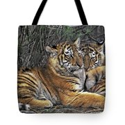 Siberian Tiger Cubs Endangered Species Wildlife Rescue Tote Bag