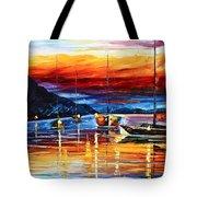 Sicily Messina Tote Bag by Leonid Afremov