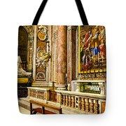 Side Altar In St Peters Basicilca Tote Bag