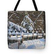 Side Cut Park Winter Wonderland Tote Bag
