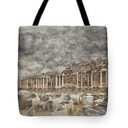 Side Nymphaeum Fountain Ruins Tote Bag