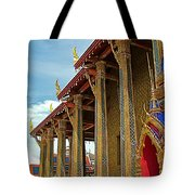 Side Of Royal Temple At Grand Palace Of Thailand In Bangkok Tote Bag
