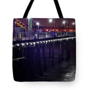 Side Of The Pier - Santa Monica Tote Bag
