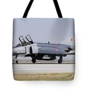 Side View Of A Turkish Air Force Tote Bag
