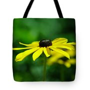 Side View Of A Yellow Flower Tote Bag