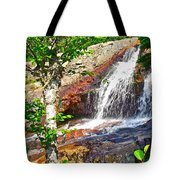 Side View Of Southeast Brook Falls In Gros Morne Np-nl Tote Bag