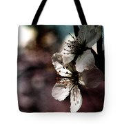 Side View Of White Flowers Tote Bag