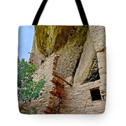 Side Window In Spruce Tree House On Chapin Mesa In Mesa Verde National Park-colorado  Tote Bag