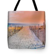Sideside Heights Sunset Tote Bag