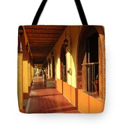 Sidewalk In Tlaquepaque District Of Guadalajara Tote Bag by Elena Elisseeva