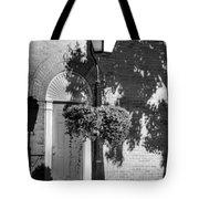 Sidewalk Shadows Bw Tote Bag