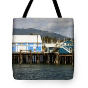 Sidney Harbour Wharf Tote Bag