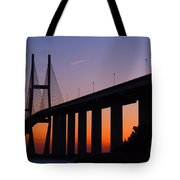 Sidney Lanier Bridge At Sunset Tote Bag