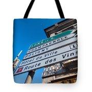 Sign For The Route Des Vins, Arbois Tote Bag