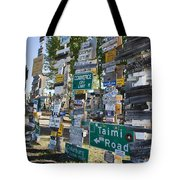 Sign Forest Watson Lake Tote Bag