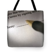 Sign Here Tote Bag