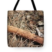 Sign In The Wood II Tote Bag