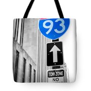 Interstate 93 Tote Bag