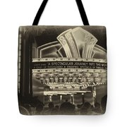 Signage A Journey Into The Movies Tote Bag