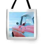 Signed Chevy Belair At The Beach Mini Tote Bag