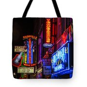 Signs Of Music Row Nashville Tote Bag