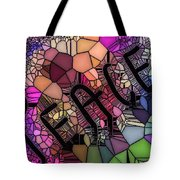 Signs Of Peace V Tote Bag