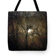 Silent Foggy Sunrise Tote Bag