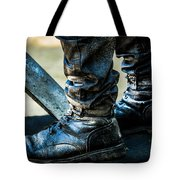 Silent Man IIi . The Waiting .. Tote Bag