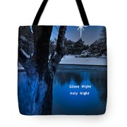 Silent Night Tote Bag by Betty LaRue