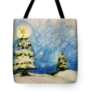 Silent Night Holy Night Tote Bag