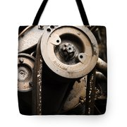 Silent Spinning Tote Bag