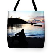 Silhouette At Sunrise Tote Bag