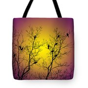 Silhouette Birds Tote Bag