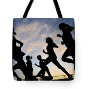 Silhouette Female Runners Tote Bag