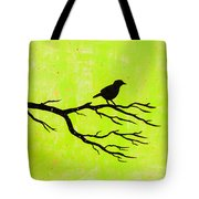 Silhouette Green Tote Bag