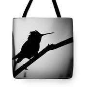 Silhouette Humming Bird Tote Bag