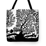 Silhouette Hunting Tote Bag