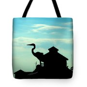 Silhouette Of A Heron Tote Bag
