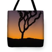 Silhouette Of A Joshua Tree At Sunset Tote Bag