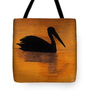 Silhouette Of A Pelican Tote Bag