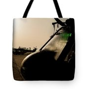 Silhouette Of Hellenic Air Force Search Tote Bag