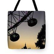 Silhouette Of London Eye Tote Bag